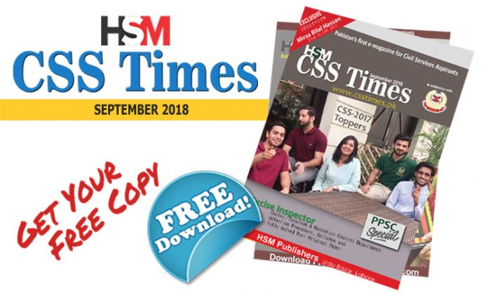 CSS TIMES Magazin in PDF FREE, Current Affairs Magazine, HSM CSS Times Magazine