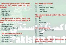 Pakistan Studies Affairs MCQs for Competitive Exams