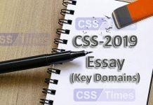 CSS-2019 Essay (Key Domains) by: NICS