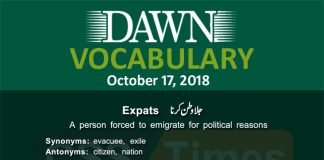 Daily Dawn Vocabulary for CSS 17 October