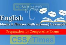 English Grammar: Idioms And Phrases