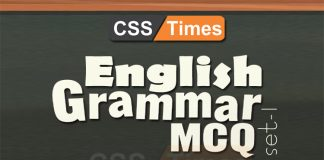 English grammar MCQs For All Competitive Exams (Set-I)