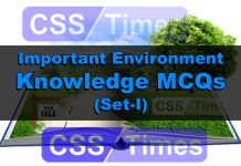 Environment Science Important MCQs