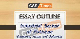 Essay Outline: Industrial Sector of Pakistan