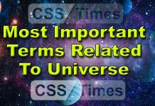 Most Important Terms Related To Universe