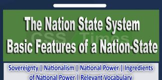The Nation State System: Basic Features of a Nation-State