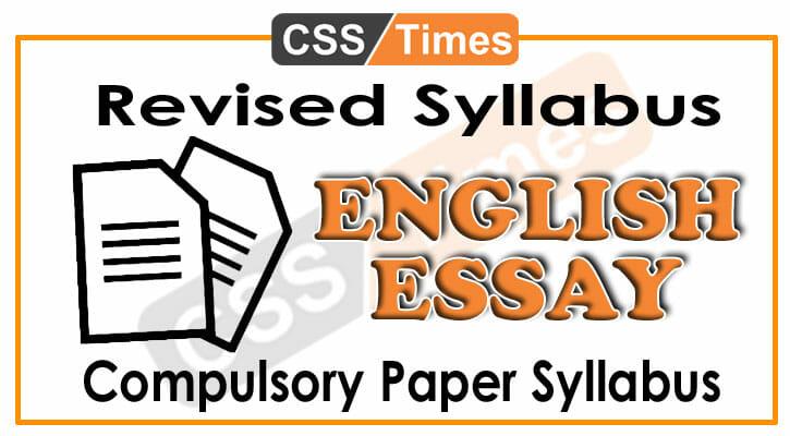 css-english-essay-syllabus- | CSS Times
