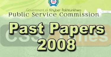KPK PMS Past Papers 2008