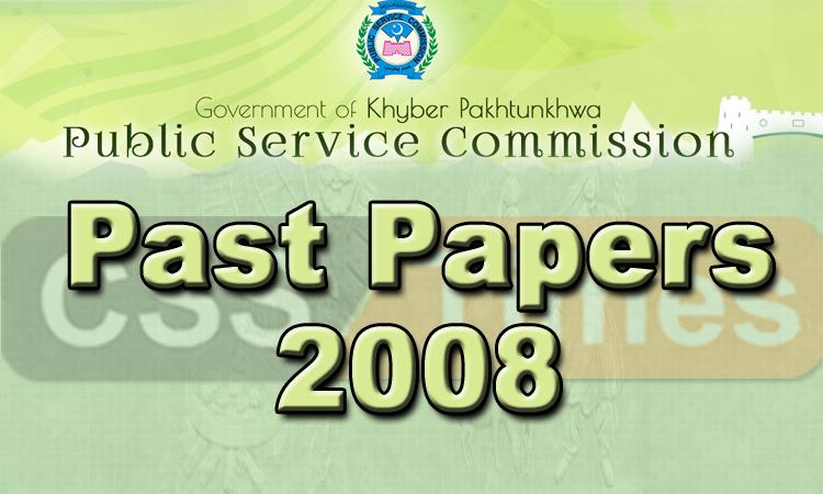 KPK PMS Past Papers 2008