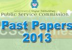KPK PMS Past Papers 2013