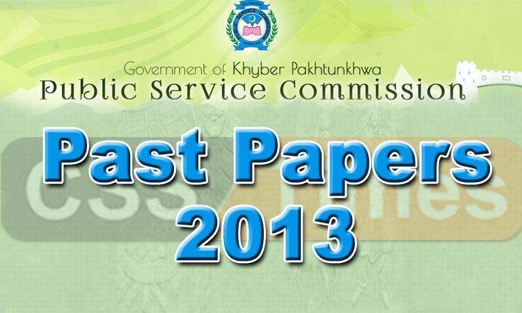 KPK PMS Past Papers 2013