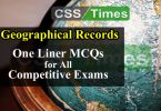 World Geographical Records MCQs