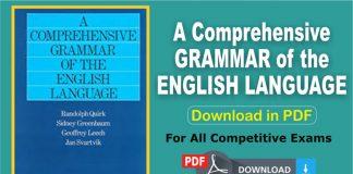 A Comprehensive GRAMMAR of the ENGLISH LANGUAGE (PDF)