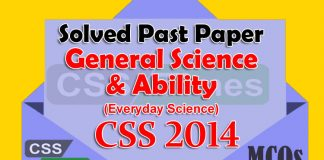 General Science and Ability CSS Past Paper Solved