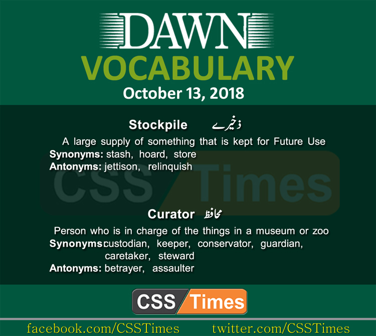 Daily Dawn Newspaepr Vocabulary for CSS
