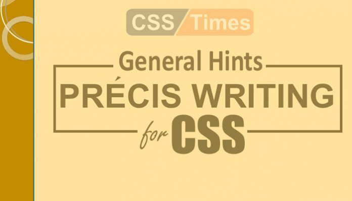 Précis Writing for CSS Exams
