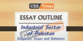 Essay Outline: Industrial Sector of Pakistan