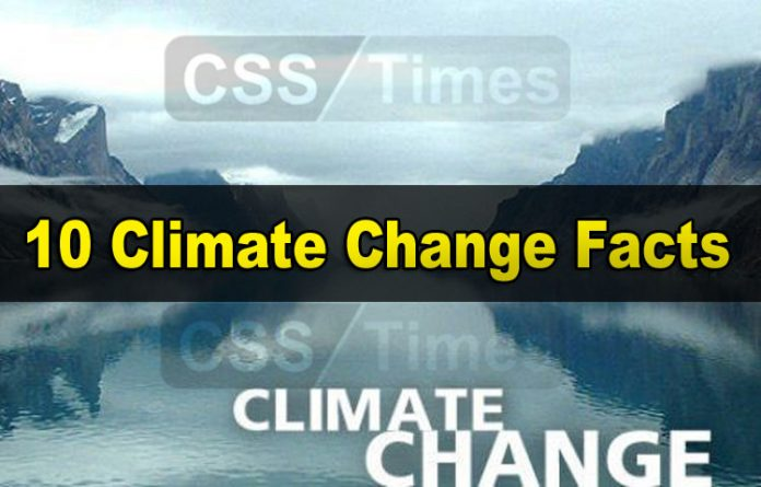Climate Change Facts, CSS Notes in PDF