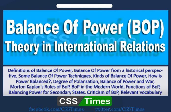 Balance of Power in International Relations