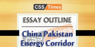 China Pakistan Economic Coridor CPEC Essay for CSS
