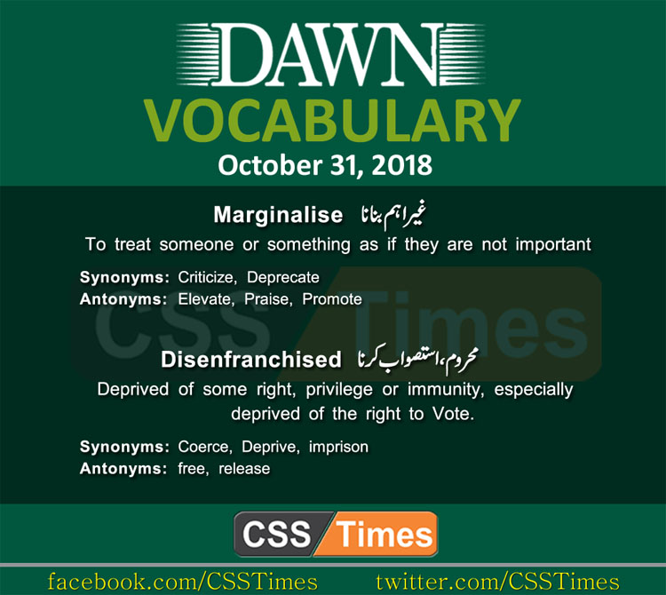 Daily Dawn Vocabulary for CSS