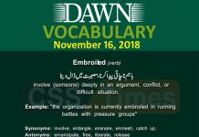 Daily Dawn Vocabulary with Urdu Meaning