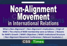Non Alignment Movement in International Relations