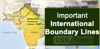 List of International Boundary Lines