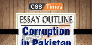 Corruption Essay Outlines