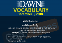 Daily Dawn Vocabulary with Urdu Meanings December 3