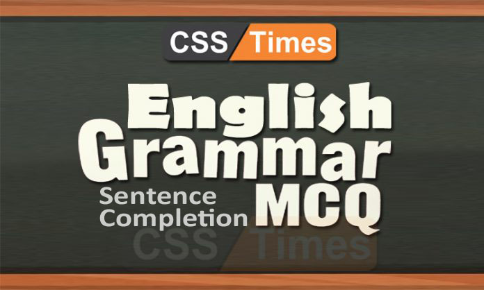 English Grammar Solved MCQs Sentence Completion (Prepositions)