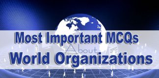Most important MCQs about World Organization