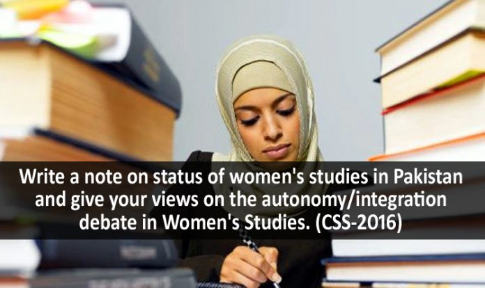 Status of Women Studies in Pakistan