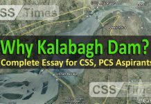 Why Kalabagh Dam (Complete Essay Outline for CSS PCS Aspirants
