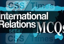 CSS International Relations Solved MCQs with Explanation (Set-I)