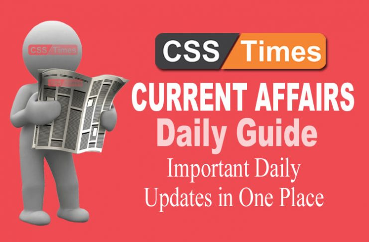 Day by Day Current Affairs (January 01, 2019) | MCQs for CSS, PMS
