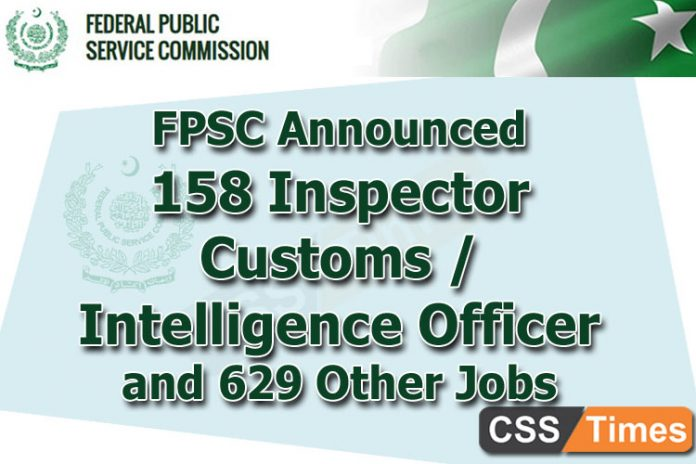FPSC Inspector Customs Intelligence Officer Jobs