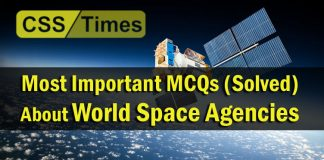 Most Important MCQs (Solved) About World Space Agencies