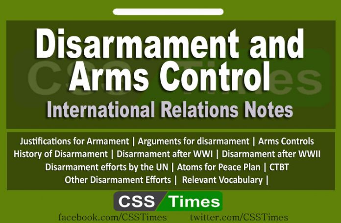 Disarmament and Arms Control