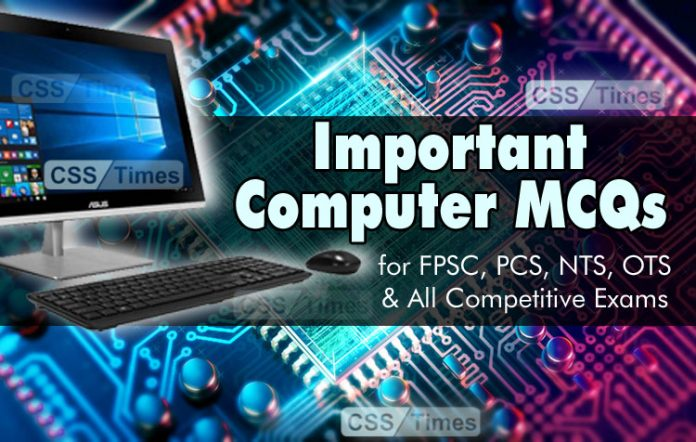 Important Computer MCQs for FPSC Competitive exams