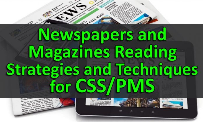 Newspapers and Magazines Reading Strategies and Techniques for CSS - PMS