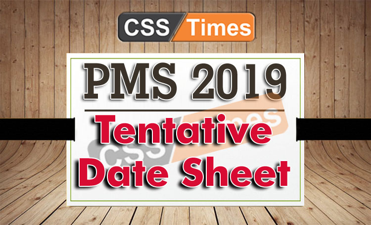 Tentative Date Sheet For PMS-2019