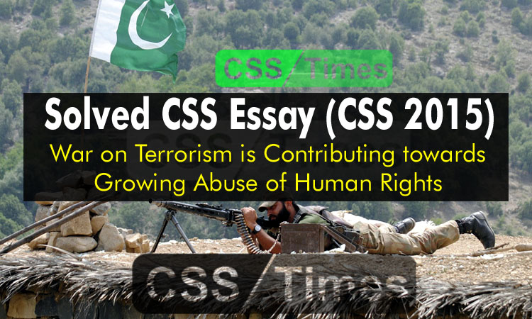 War on terrorism essays