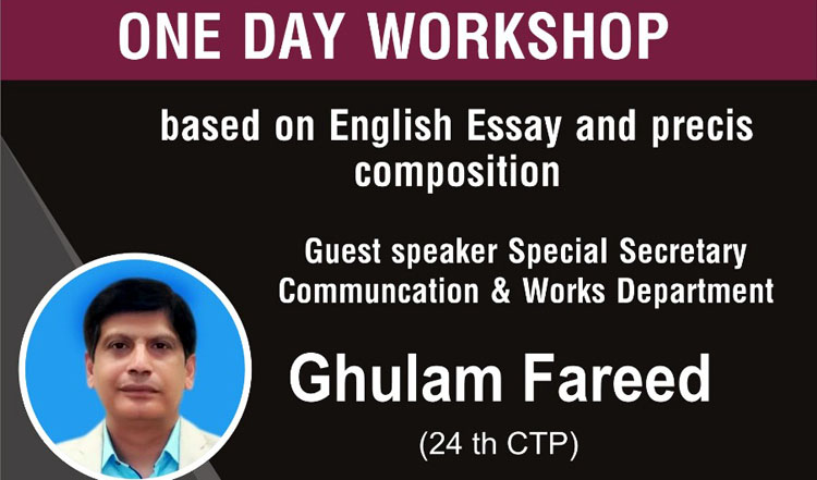 One Day Free Workshop for English Essay and Precis at Best CSS Academy in Lahore