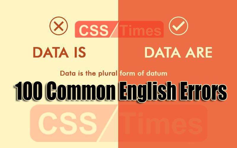 100 Common English Errors