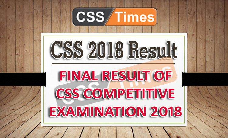 CSS 2018 Result