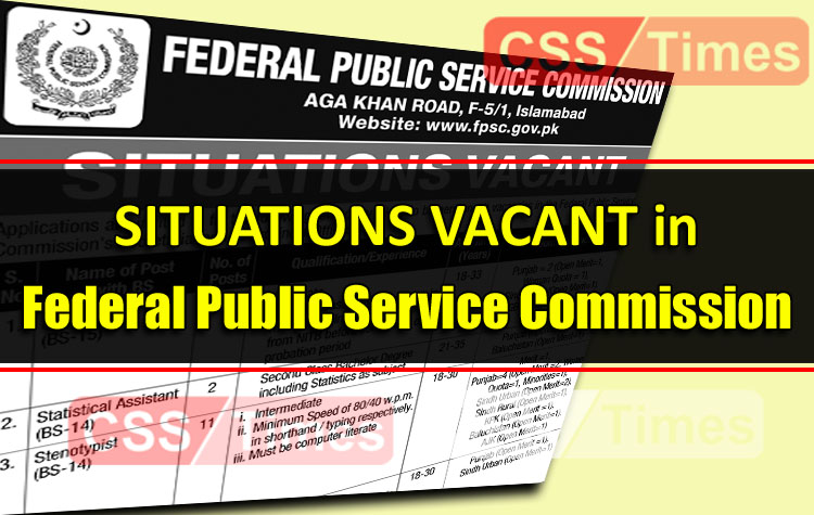 FPSC Announced 62 Inspector Investigation (FIA) (BS-16) and