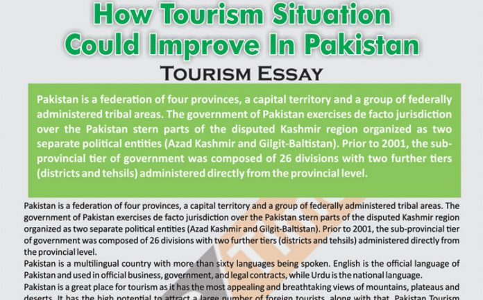 How Tourism Situation Could Improve In Pakistan | Tourism Essay (PDF)
