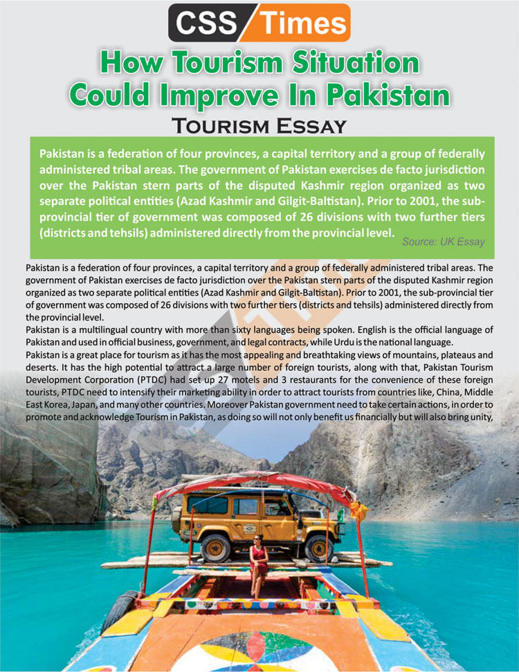 How Tourism Situation Could Improve In Pakistan | Tourism Essay