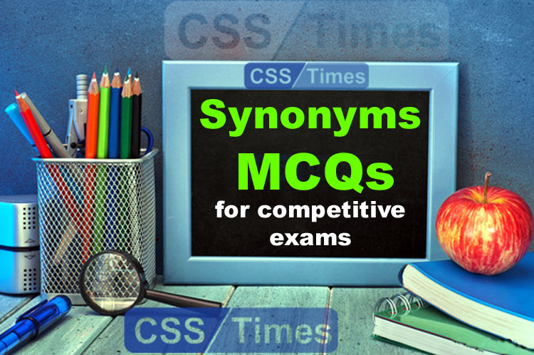 Important Synonyms MCQs